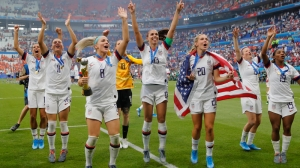 Crowd Broke Out In This Chant Of Support After USWNT's World Cup Win