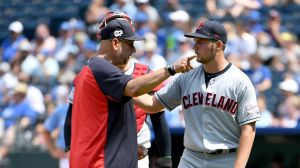 Watch Indians' Trevor Bauer Launch Ball Into Center Field Out Of Anger