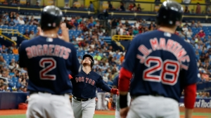 Red Sox Wrap: Christian Vazquez, J.D. Martinez Lead Way In 7-4 Win Vs. Rays