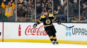 Bruins' Brad Marchand Out-Muscles P.K. Subban For Fourth Goal Of Season