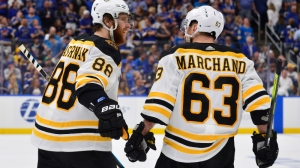 Brad Marchand Finds Seam For First Goal Of Season In Bruins' Win Vs. Coyotes