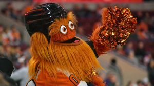 Flyers Mascot Gritty Celebrates First Birthday In Hilarious Fashion