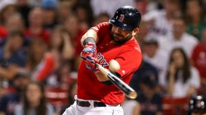 Watch Mitch Moreland Celebrate Birthday With Laser Beam Home Run Vs. Yankees