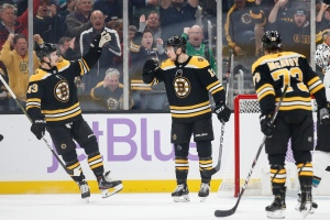 Bruins Wrap: Boston Dominates Sharks In Feisty 5-1 Victory At TD Garden