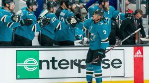 Watch Evander Kane Earn First-Ever First Period Hat Trick In Sharks History
