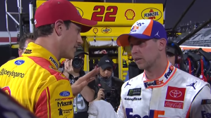 Watch Joey Logano, Denny Hamlin Fight After NASCAR Martinsville Race
