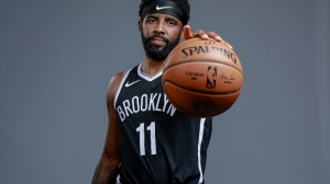Watch Kyrie Irving Get Emotional While Addressing Crowd At Nets Opener