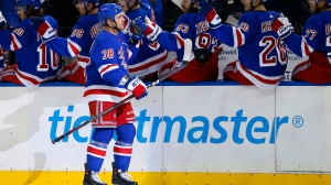 Michael Haley Scores Unusual Goal For Rangers In First Period Vs. Bruins