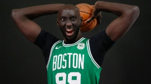 Here's Essential Video Of Tacko Fall Bowling At Marcus Smart's Charity Event