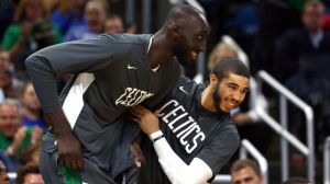 Celtics' Tacko Fall Scores First NBA Points On Standing Dunk Vs. Knicks