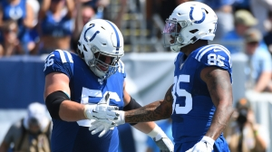 Quenton Nelson Does Keg Stand Celebration For Colts TD That Didn't Count