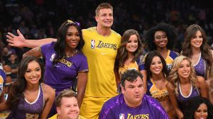 Watch Ex-Patriot Rob Gronkowski Hilariously Perform With Laker Girls