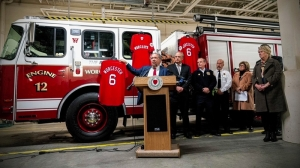 Worcester Red Sox Retire No. 6 In Honor Of 'Worcester Six' Firefighters