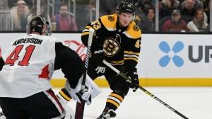 Bruins' Bruce Cassidy Praises Danton Heinen's Puck Winning Abilities