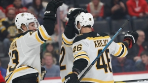 Solid Teamwork Leads To David Krejci's First Period Goal Vs. Red Wings