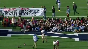 Harvard-Yale Game Delayed At Halftime By Student Climate-Change Protest