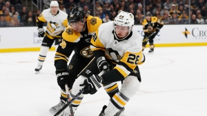 Bruins, Penguins Pressed Hard In First Period Of Monday Night's Contest