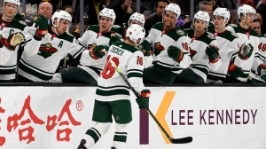 Bruins Struggle To Clear Puck From Own End In First Period Vs. Wild Bruins Struggle To Clear Puck From Own End In First Period Vs. Wild