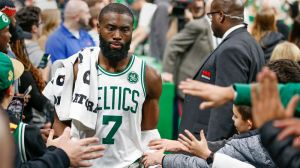 Jaylen Brown Delivers Perfect Line About Blowing Kiss At Kelly Olynyk