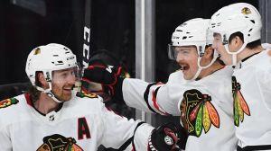 Ryan Carpenter Nets Shorthanded Goal To Get Blackhawks On Board Vs. Bruins