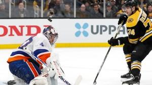 Semyon Varlamov Makes Eye-Popping Save As Bruins Fall Against Islanders