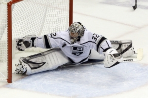 Jonathan Quick Comes Up With Huge Save Vs. Jake DeBrusk In Kings' Win