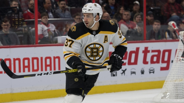 Patrice Bergeron Scores Slick First Period Goal As Bruins Strike First