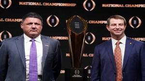 Clemson Vs. LSU Live Stream: Watch National Championship Game Online