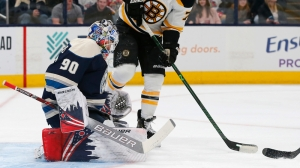 Elvis Merzlikins Shines For Blue Jackets As Bruins Lose Second Straight Game
