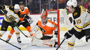 Flyers' Carter Hart Makes Impressive Glove Save As Bruins Fall In Shootout