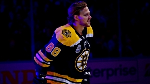David Pastrnak Pokes Fun At Himself For Rough Shooting Stars Challenge Performance