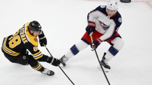 Bruins Struggle Early Vs. Blue Jackets' Suffocating Defense In First Period