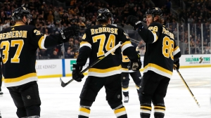 Watch David Pastrnak Score Against Oilers For League-Leading 31st Goal