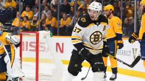 Patrice Bergeron Records Goal No. 18 Tuesday As Bruins Wallop Predators