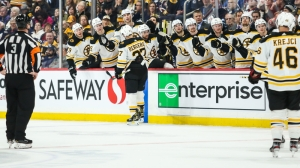 Patrice Bergeron's Power-Play Goal In First Period Ties Game Vs. Jets At One