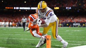 LSU's Thaddeus Moss Went Off Monday, And Now Patriots Fans Want Him