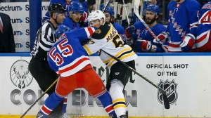 Brad Marchand Takes Jab At Ryan Lindgren After Bruins Defeat Rangers