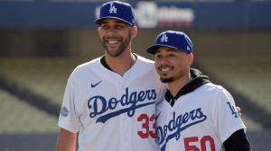 Here's First Look At Mookie Betts, David Price In Dodgers Uniform