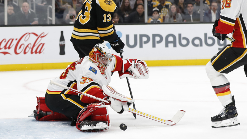 David Rittich Shines As Flames Hand Bruins Second Straight Loss Tuesday