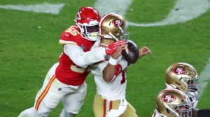 Frank Clark Rips Jimmy Garoppolo After Chiefs Beat 49ers In Super Bowl