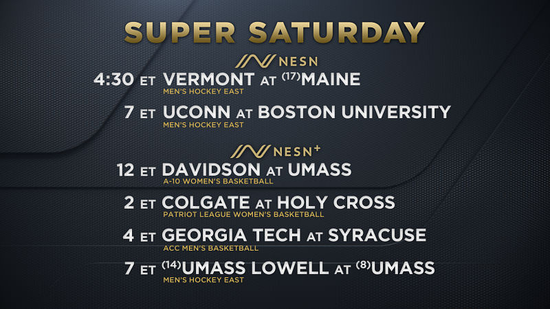 'Super Saturday' Headlines Big Weekend Of College Sports On NESN Networks