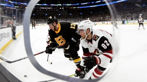 Charlie Coyle Pots Two In Bruins' Win Vs. Coyotes After Solid Line Change
