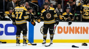 Here's Where Hats From Bruins' David Pastrnak's Hat-Trick Goal Are Going
