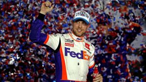 Denny Hamlin Baffled His Name Was Misspelled On Daytona 500 Victory Tour