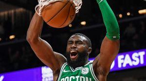 Watch Celtics' Jaylen Brown Finish Impressive 360 Slam Dunk Vs. Nets