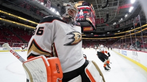 Anaheim Ducks Goalie John Gibson Rocks Amazing Mask For Kobe, Gigi Bryant