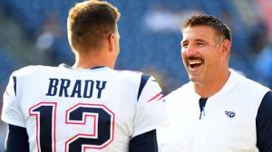 Titans' Taylor Lewan Pokes Fun At Tom Brady, Mike Vrabel's Relationship