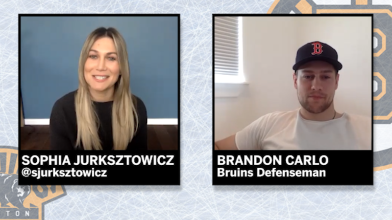 Bruins' Brandon Carlo Joins Sophia Jurksztowicz For A Quarantine Chat