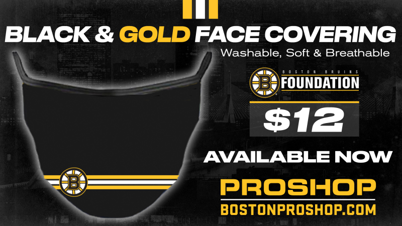 Boston Bruins face covering
