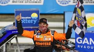 Chase Elliott Wins $100K 'Bounty' At North Carolina Education Lottery 200